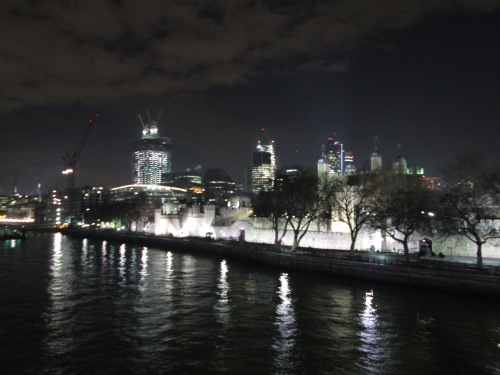 Northwards across the Thames, with the Tower of London to the right